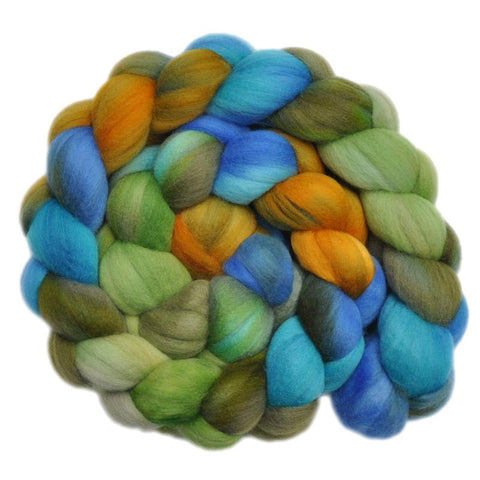 Merino Wool Roving, 19 micron - California Highway 1 - 4.1 ounces