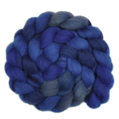 Finn Wool Roving - Blue Depths 1 - 4.0 ounces