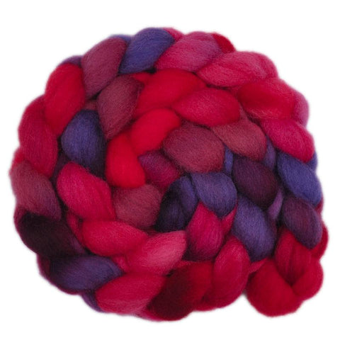 Finn Wool Roving - Blood Moon 2- 4.1 ounces
