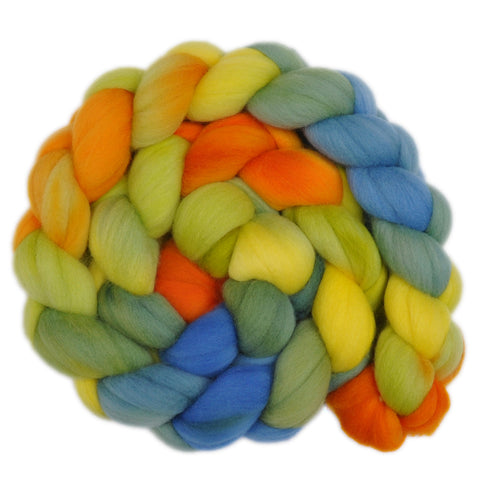 21.5 micron Merino Wool Roving - Balmy Days 1 - 4.0 ounces