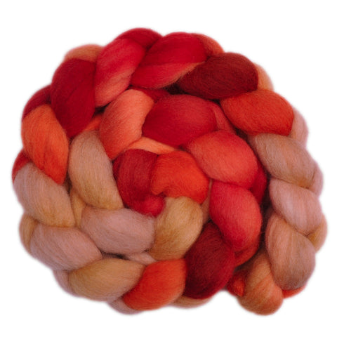 Corriedale Cross Wool Roving - Kind Heart 1 - 4.2 ounces