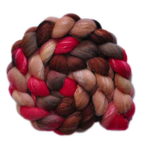 Silk / Shetland 30/70% Wool Roving - Questionable Date 1 - 4.1 ounces