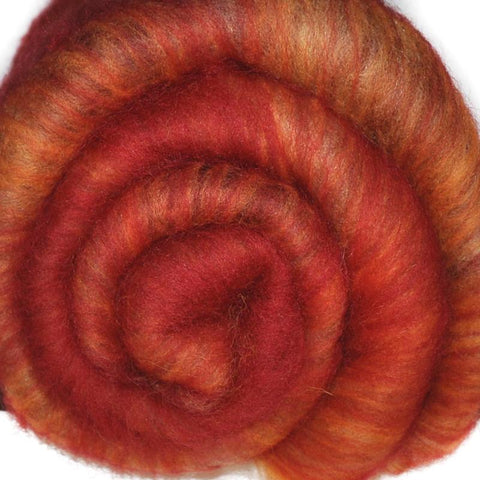 Spinning fiber batt, mixed fibers - Fast Start - 1.8 ounces