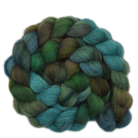 Gray Shetland Wool Roving - Forest Quest 2 - 4.1 ounces
