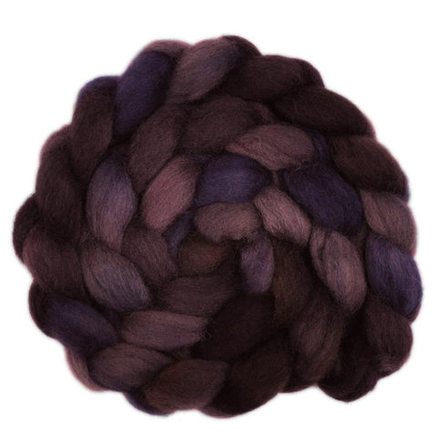 Finn / Gotland 50/50% Wool Roving - Load of Charcoal 1 - 4.1 ounces