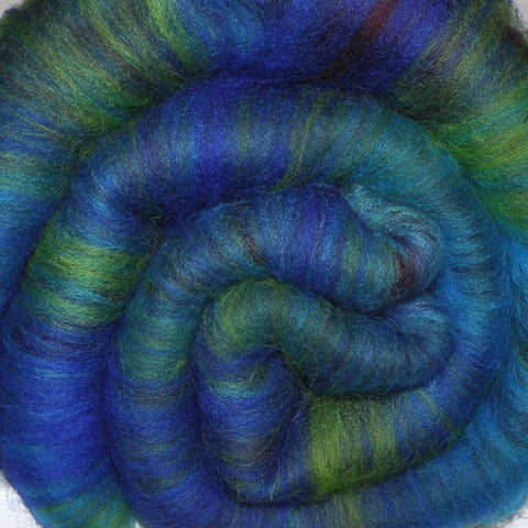 Spinning fiber batt, mixed fibers - Gulf of St. Lawrence - 2.1 ounces