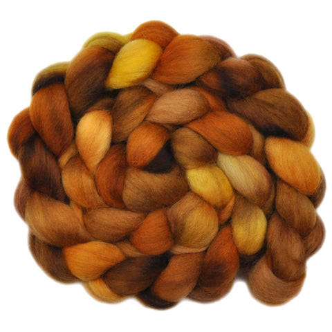 Corriedale Wool Roving - Glittering Gold 1 - 4.0 ounces