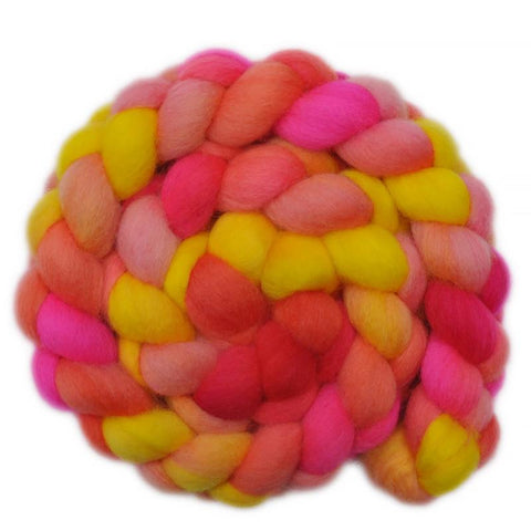 BFL Wool Roving - Glowing with Pride 1 - 4.1 ounces