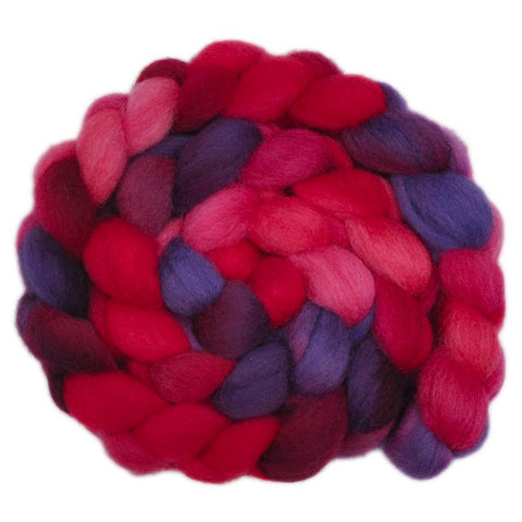 Finn Wool Roving - Blood Moon 1- 4.1 ounces