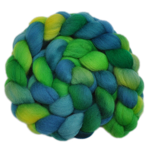 Falkland Wool Roving - Frogs & Toads 1 - 4.1 ounces