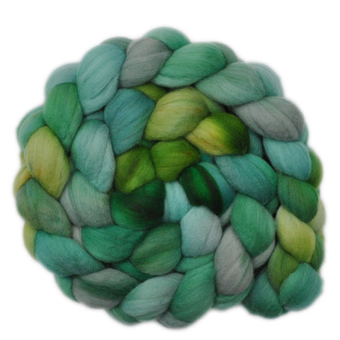 Merino Wool Roving, 19 micron - Jumping Frogs 1 - 4.3 ounces