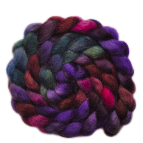 Teeswater Wool Roving - Hidden Royalty - 3.9 ounces