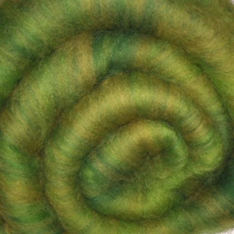 Spinning fiber batt, mixed fibers - Fair Wind - 2.0 ounces