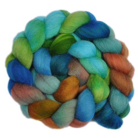 Corriedale Cross Wool Roving - Sea-Washed Cliff 2 - 4.4 ounces