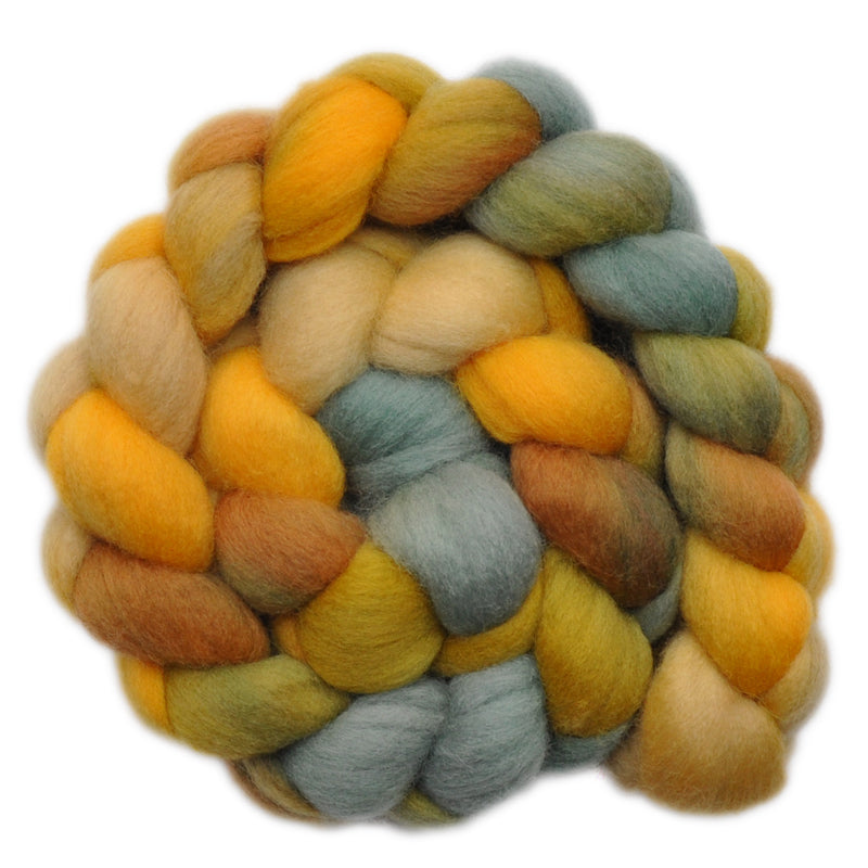 Hand painted Polwarth wool roving for hand spinning and felting