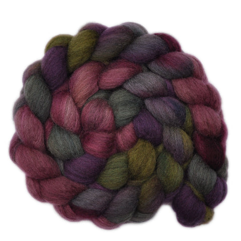 Oatmeal BFL Wool Roving - Between the Lines 2 - 3.9 ounces