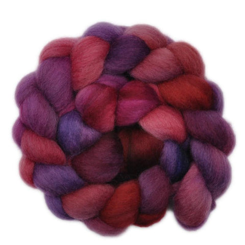 Corriedale Cross Wool Roving - Blood Brothers 1 - 4.0 ounces