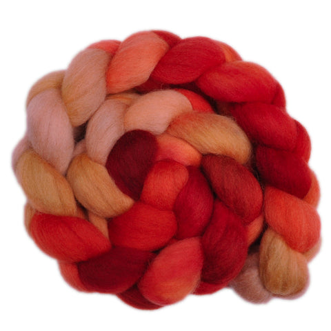 Corriedale Cross Wool Roving - Kind Heart 2 - 4.3 ounces