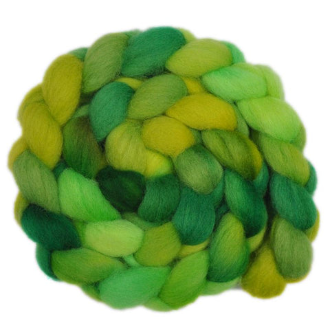 Finn Wool Roving - Young Leaves 2 - 4.1 ounces