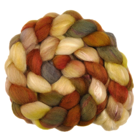 BFL Wool / Trilobal Nylon 70/30% Roving - Fossil Shells 2 - 3.8 ounces