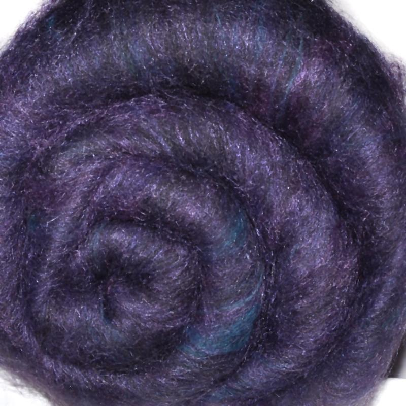 Carded wool batt for hand spinning and felting