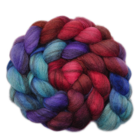 BFL Humbug Wool Roving - Aye Aye - 3.9 ounces