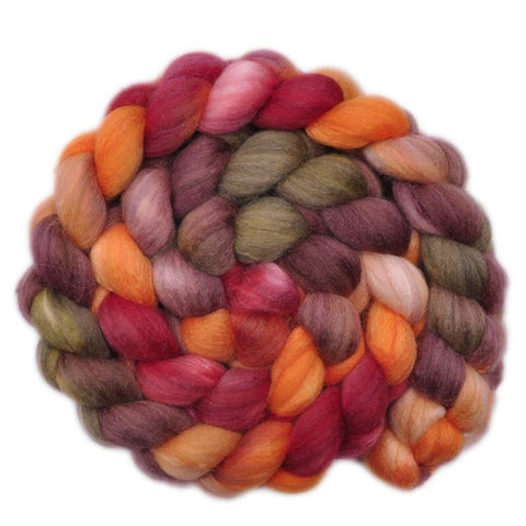 Silk / Polwarth 40/60% Wool Roving - Ancient Lullaby 2 - 4.0 ounces