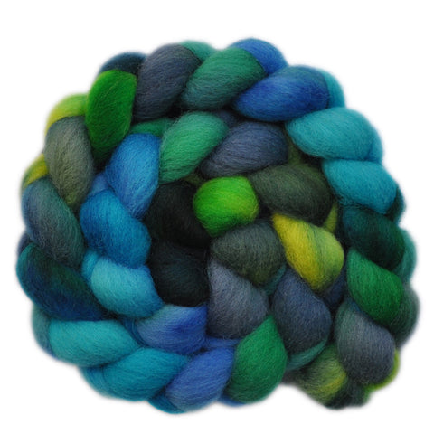 Texel Wool Roving - Summer Breeze 2 - 4.0 ounces