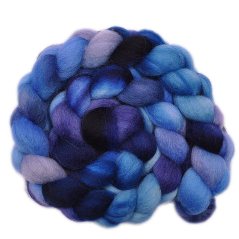 BFL Wool Roving - Blue Blood - 4.1 ounces