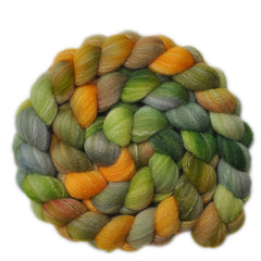 Hand painted silk / bamboo / Targhee wool for hand spinning and felting