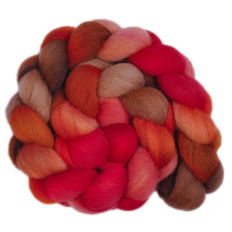 Corriedale Cross Wool Roving Destash - Juicy Plum 2 - 4.3 ounces