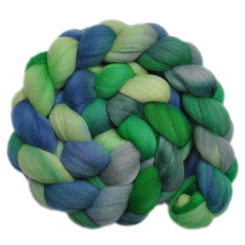 Merino Wool Roving, 19 micron - Rainforest 2 - 4.1 ounces