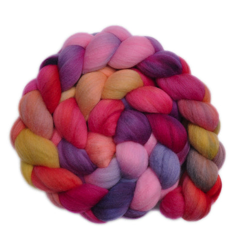 21.5μ Merino Wool Roving - Fiesta 2 - 4.1 ounces