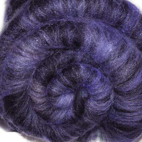 Spinning fiber batt, mixed fibers - Twilight Shadows - 1.7 ounces