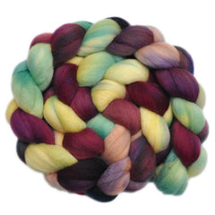 Hand painted Merino wool roving for hand spinning and felting