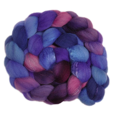 Silk / Shetland 30/70% Wool Roving - Dowager 1 - 4.2 ounces