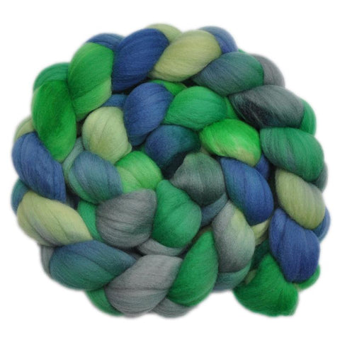 Merino Wool Roving, 19 micron - Rainforest 1 - 4.0 ounces
