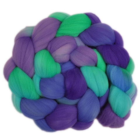 Rambouillet Wool Roving - Cheerful Vision 1 - 4.1 ounces