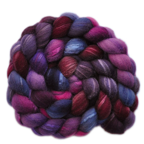 Silk / Shetland 30/70% Wool Roving - Alley Oop - 4.0 ounces
