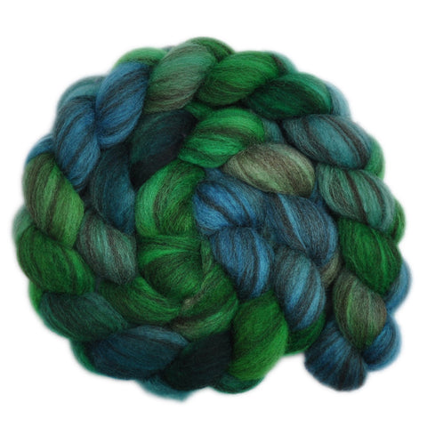 BFL Humbug Wool Roving - Backwoods 1 - 3.8 ounces