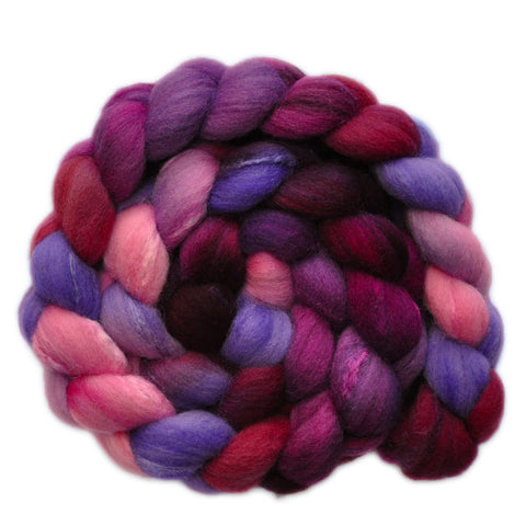 Silk / Shetland 30/70% Wool Roving - Cautious Heart 1 - 4.0 ounces