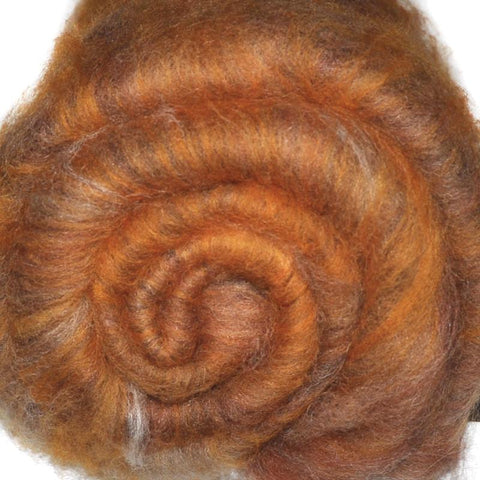 Spinning fiber batt, mixed fibers - Cougar's Cry - 2.0 ounces