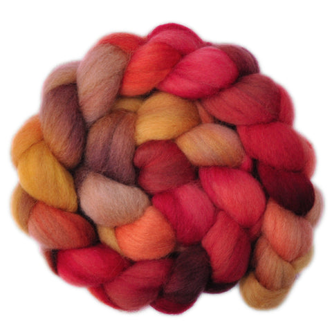 Corriedale Cross Wool Roving - In a Nutshell 2 - 4.1 ounces
