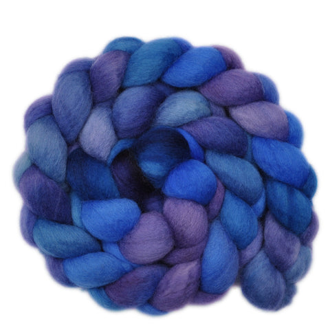 BFL Wool Roving - Flowing Stream - 4.0 ounces