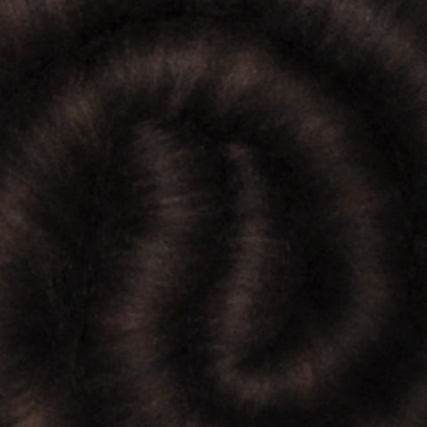 Spinning fiber batt, mixed fibers - Ebony - 2.1 ounces