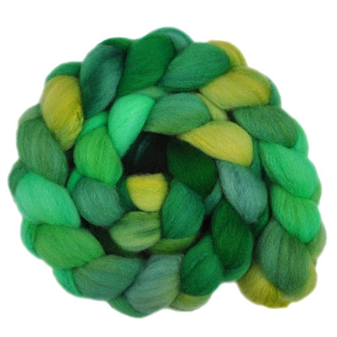 Silk / Shetland 30/70% Wool Roving - Greening Tree 1 - 4.0 ounces