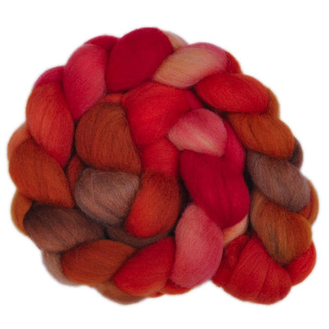 Corriedale Cross Wool Roving Destash - Juicy Plum 1 - 4.2 ounces