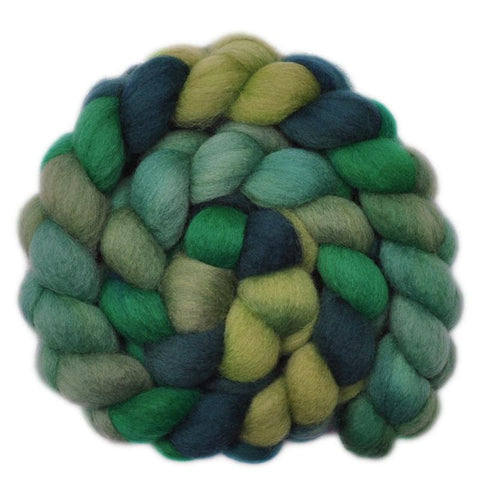 BFL Wool Roving - Village Green - 4.1 ounces