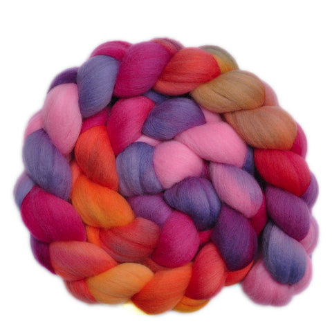 21.5μ Merino Wool Roving - Fiesta 1 - 4.1 ounces
