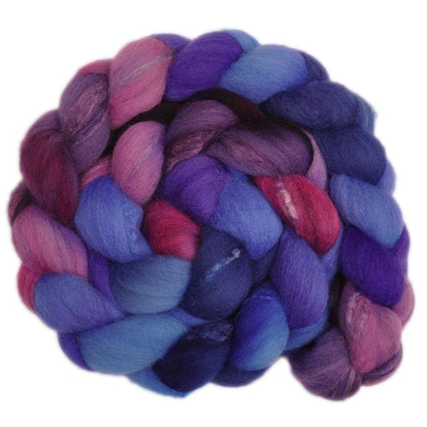 Silk / Shetland 30/70% Wool Roving - Dowager 2 - 4.1 ounces